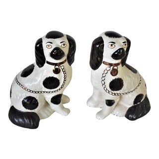 Vintage Staffordshire Cocker Spaniel Figurines - a Pair For Sale