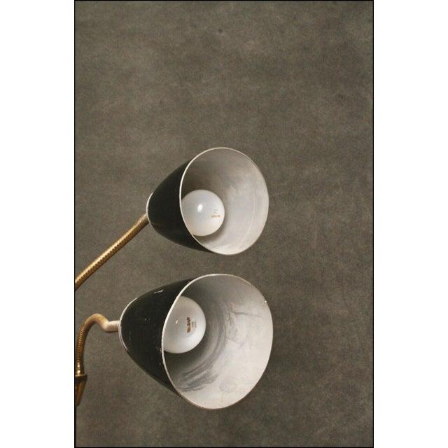 Mid Century Modern Black Double Gooseneck Floor Lamp For Sale - Image 10 of 11