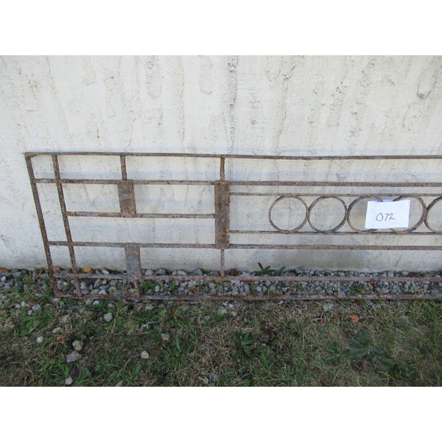 Victorian Antique Victorian Iron Gate Window Garden Fence Architectural Salvage Door #072 For Sale - Image 3 of 6