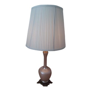 Vintage Mid Century Peach Cased Iridescent Lamp For Sale