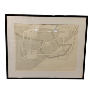 1970's Abstract Architectural Drawing For Sale