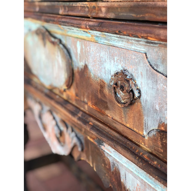 Copper and Rust Patina Cabinet - Image 6 of 8