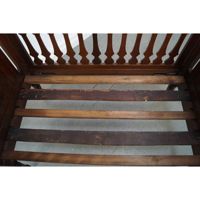 Antique Walnut American Renaissance Baby/Doll Crib For Sale - Image 9 of 10