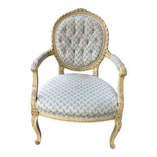 1940s Antique Upholstered Armchair For Sale