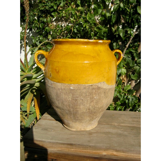 19th Century Country French Rustic Yellow Pot For Sale - Image 12 of 12