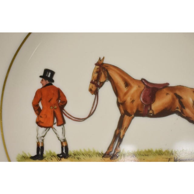 This is a vintage plate by Frank Voasmanksy for Abercrombie & Fitch. The piece is from the 1950s.