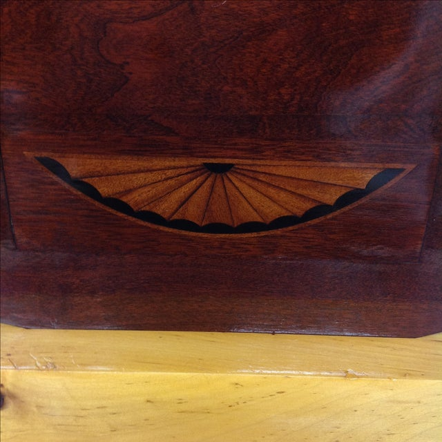 Art Deco Rosewood Kidney Shaped Lap Desk & Stand - Image 4 of 4