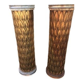 Mid-Century Modern Wood Pedestals - a Pair For Sale