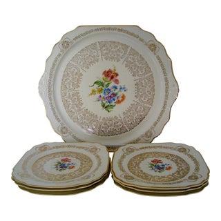 Queen Anne Porcelain Dessert Set - 7 Pieces For Sale