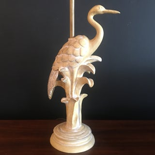 Asian Modern Style Tall Standing Crane Lamp W/ Silk Shade Preview