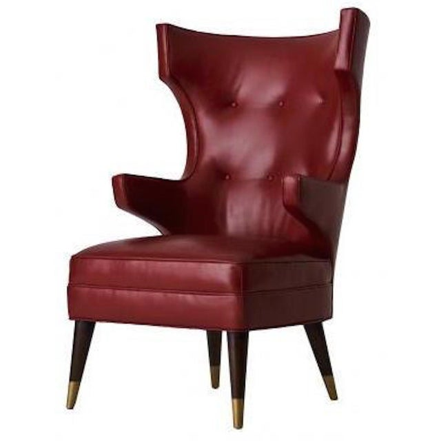 Studio Van den Akker Studio Van den akker Padrino Wingback Club Chair For Sale - Image 4 of 4