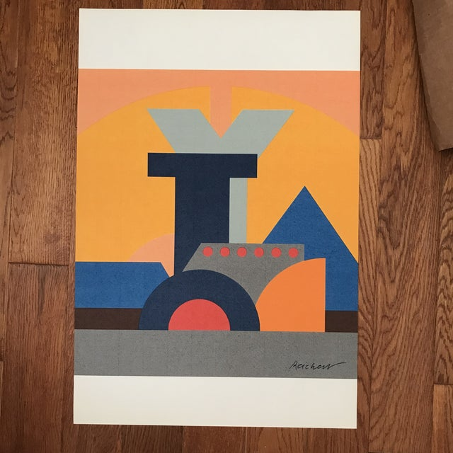 Josua Reichert Lithograph in the Plate Typographic Composition For Sale In Palm Springs - Image 6 of 9
