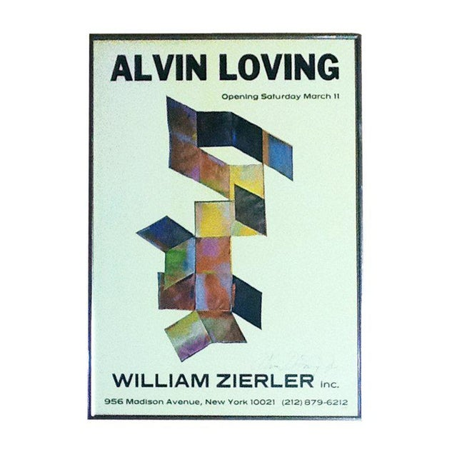 1970s Rare Signed Alvin Loving Poster Exhibition at William Zierler Gallery For Sale - Image 5 of 5