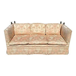 1970s Peach Upholstered Mechanical Sofa For Sale