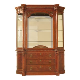 Century Furniture Beveled Glass Mahogany China Cabinet For Sale