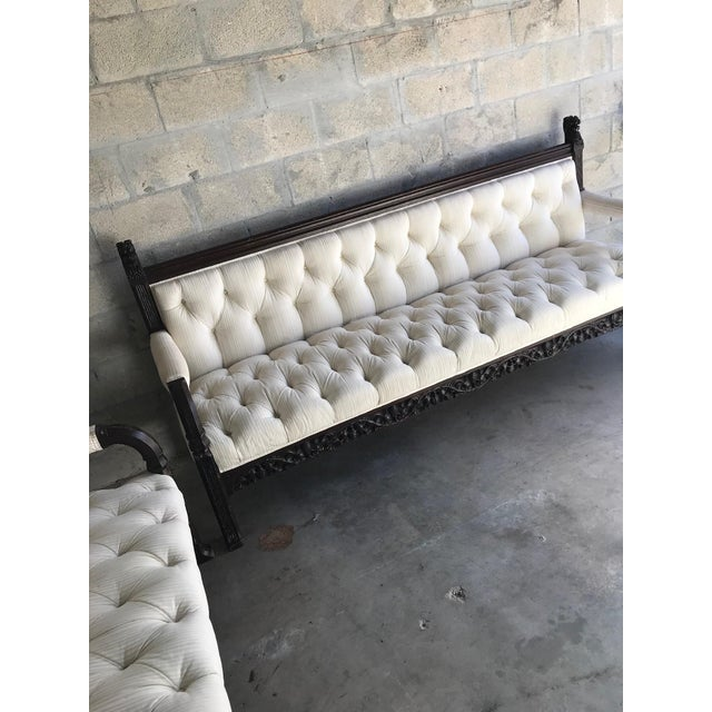 1800s Vintage Lion Head Carving Wood Sofa For Sale - Image 11 of 13