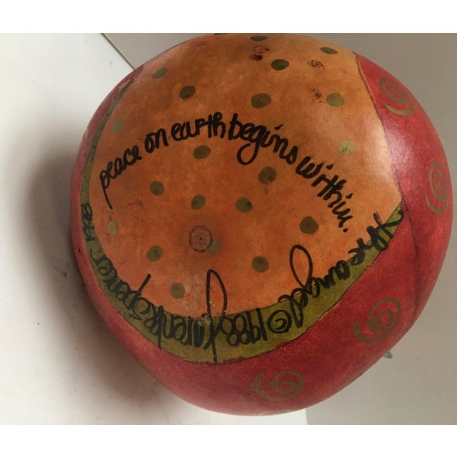 Folk Art Hand Painted Angel Gourds - Set of 3 For Sale - Image 5 of 7