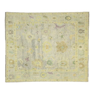 Contemporary Turkish Oushak Rug - 08'07 X 10'03 For Sale