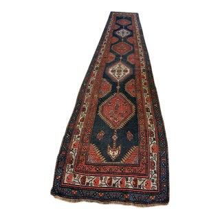 Kurdish Long Oriental Kilim Runner - 3′7″ × 16′8″ For Sale