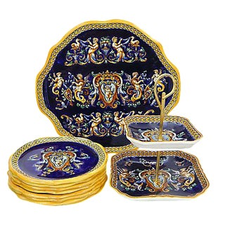 Gien French Renaissance Serving Set - 10 Pieces For Sale