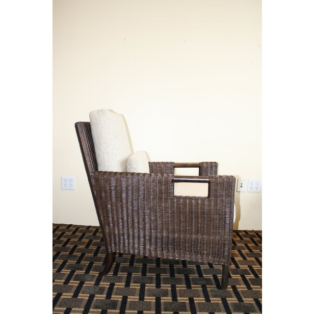McGuire McGuire Thomas Pheasant Woven Core Club Chair For Sale - Image 4 of 8