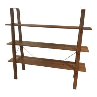 Mid Century Modern 3- Shelf Bookcase For Sale