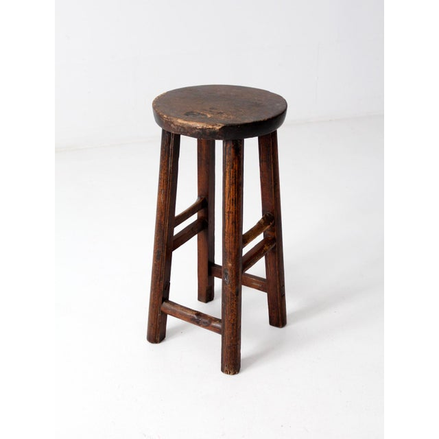 Blue Antique Chinese Stool For Sale - Image 8 of 11
