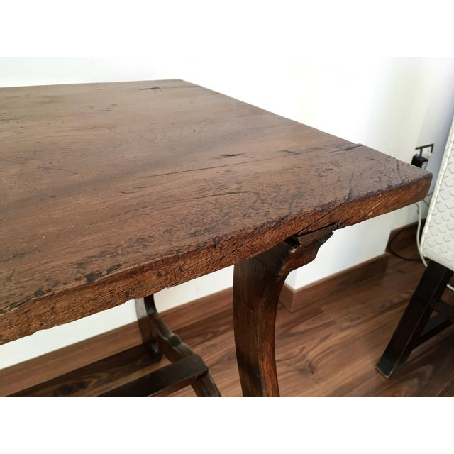 19th Spanish Farm Table or Desk Table For Sale - Image 10 of 11