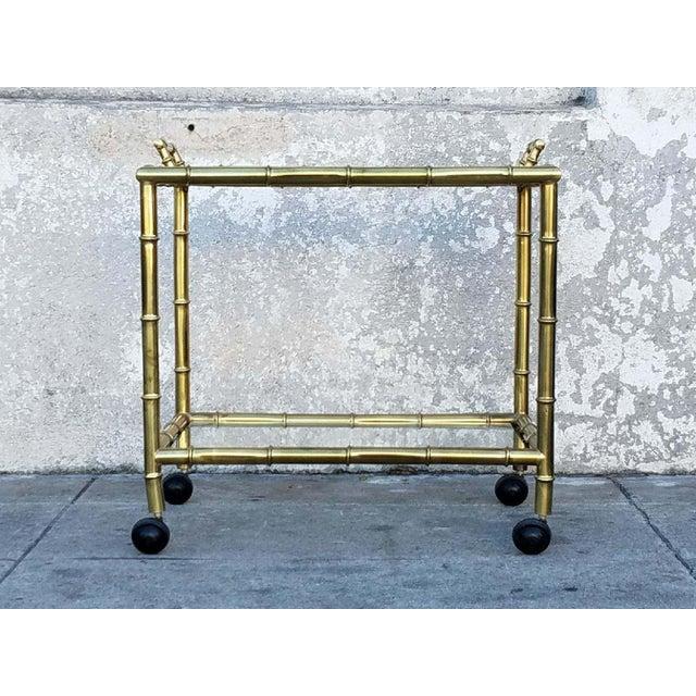 Vintage Gold Bamboo Bar Cart - Image 5 of 5