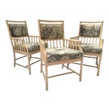Image of McGuire Rattan Accent Arm Chairs - Set of 3 For Sale