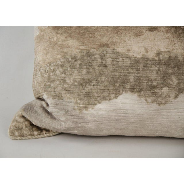 Natural Gradient Feather Down Throw Pillow For Sale - Image 4 of 7