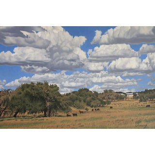 """Garrett Middaugh """"West Texas Ranch"""" Oil Painting For Sale"""