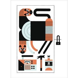 Schrödinger's Cat Quantum Physics Art Print Poster For Sale
