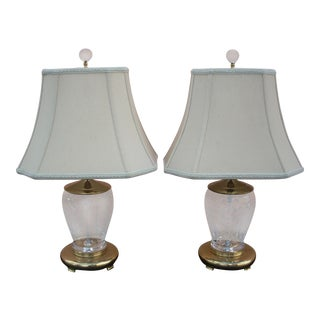 1980s Waterford Crystal Table Lamps - a Pair For Sale