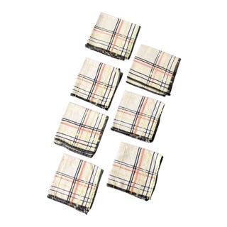 Vintage Plaid Lunch Napkins - Set of 7 For Sale