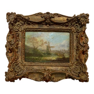 19th Century French Barbizon Painting For Sale