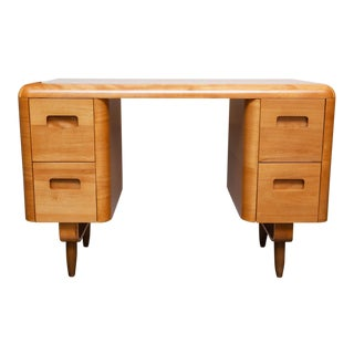 1940s Bent Plywood Desk by Paul Goldman for Plymodern For Sale
