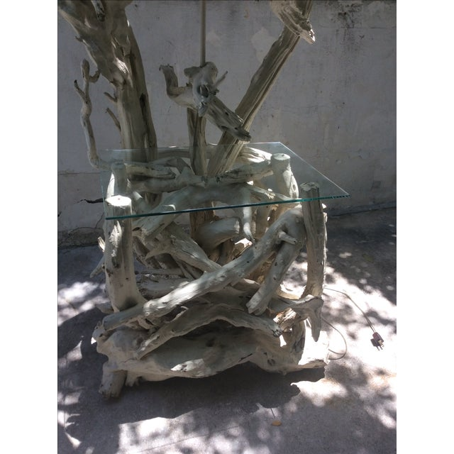 Mid Century Modern Driftwood Sculptural Table Lamp - Image 3 of 8