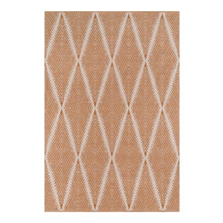 "Erin Gates by Momeni River Beacon Orange Indoor/Outdoor Hand Woven Area Rug - 3'6"" X 5'6"" For Sale"