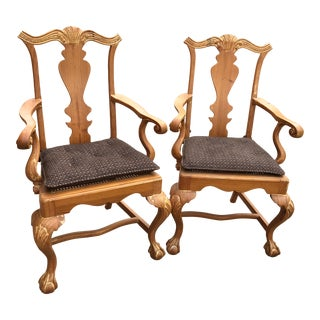 Vintage Pair Arm Chairs- A Pair For Sale