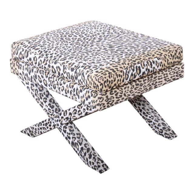 Patrick Frey X-Base Leopard Stool or Ottoman, Paris For Sale - Image 13 of 13
