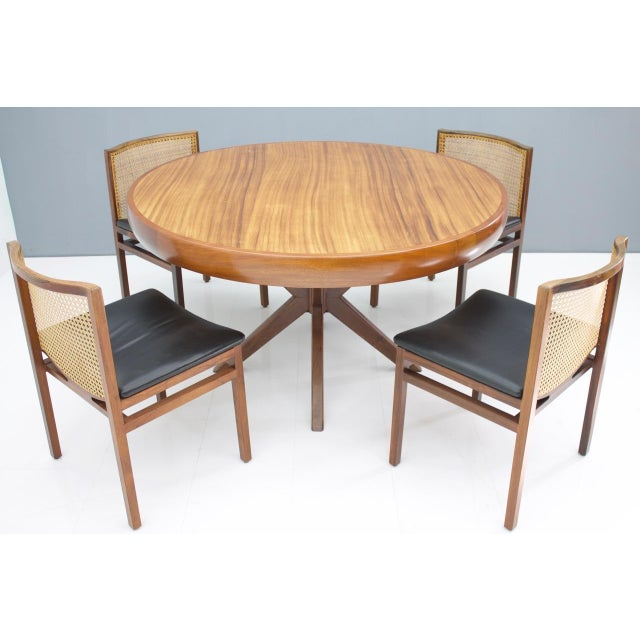 Round dining table for 4 - 5 chairs from Brazil, 1960s . Beautiful craftsmanship, very good condition.