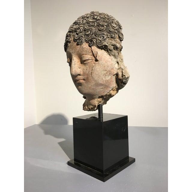 Gandharan Terracotta Head of a Bodhisattva, 3rd - 5th century - Image 5 of 10