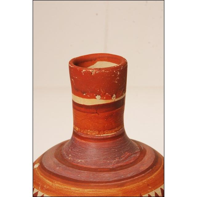 Vintage Native American Brown Art Pottery Vase - Image 5 of 11