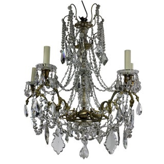 19th Century Ormolu and Cut Glass Chandelier, Signed Baccarat For Sale