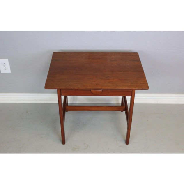 George Tanier Teak Side Table by P. Jeppeson For Sale - Image 4 of 9