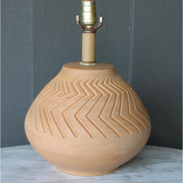 Native American Art Pottery Lamp - Image 6 of 11
