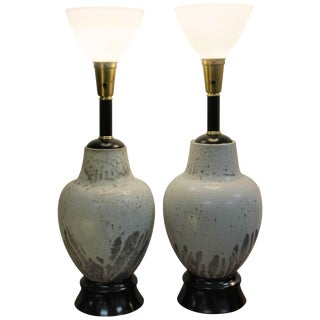 Pair of Ceramic Lamps by Mobach For Sale