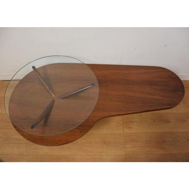 Kagan Style Walnut Coffee Table - Image 3 of 10