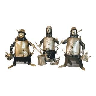 Vintage Metal Knight Figurines - Set of 3 For Sale